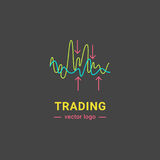 Trading graphics  icon set. Trading graphic logo. Investment line isolated icon Royalty Free Stock Photography