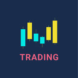 Trading graphics  icon set. Trading graphic logo. Investment line isolated icon Stock Photography