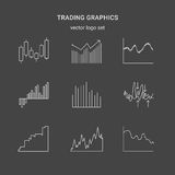 Trading graphics  icon set. Royalty Free Stock Photo