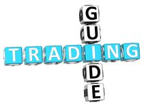 Trading Guide Crossword. 3D Trading Guide Crossword on white background Stock Photos