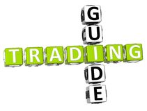 Trading Guide Crossword. 3D Trading Guide Crossword on white background Royalty Free Stock Photo