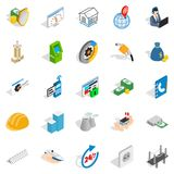 Trading house icons set, isometric style. Trading house icons set. Isometric set of 25 trading house vector icons for web isolated on white background Royalty Free Stock Photography