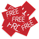 Trading labels text free Royalty Free Stock Photography