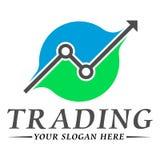 Trading logo template design Stock Image