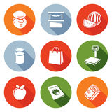 Trading on the market Icons Set. Vector Royalty Free Stock Photography