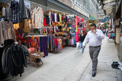 Trading pedestrian street in Central Hong Kong Stock Photography