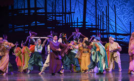 """Trading port-Dance drama """"The Dream of Maritime Silk Road"""". Dance drama """"The Dream of Maritime Silk Road"""" centers on the plot of two generations Stock Photos"""