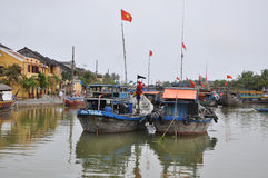 The trading port of Hoi An city, Vietnam Royalty Free Stock Image