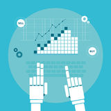 Trading robot hands Royalty Free Stock Image