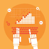 Trading robot hands Royalty Free Stock Photography