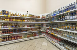 Trading room of the supermarket Royalty Free Stock Photography