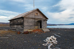 Trading station a Litke on Novaya Zemlya Stock Photography