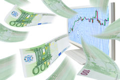 Trading on the stock exchange. Royalty Free Stock Photography