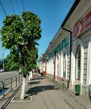 Trading street in Syzran, Russia. Old trading street in Syzran Royalty Free Stock Image