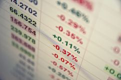 Trading terminal Stock Image