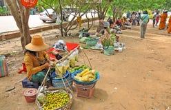 Trading in Thai - Laos border Stock Photo