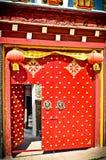 Tradional drzwi chiny buidling w Chiny Zdjęcie Stock