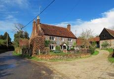 Tradional English Brick and Flint Farmhouse Royalty Free Stock Images