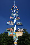 Tradional German maypole Royalty Free Stock Image
