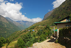 Tradional himalayan village Stock Photography