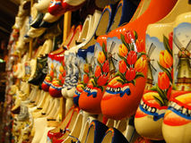 Traditional Holland shoes. Famous traditional colorful Holland shoes Stock Photos