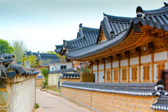 Tradional korean house. On the steet Royalty Free Stock Images