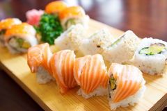 Tradional sushi plate Stock Photo