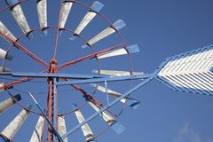 Tradional Windmill. Close-up of Traditional Windmill against clear blue sky Stock Images