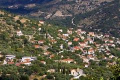 Tradiotinal Greek village at Ithaki Stock Images