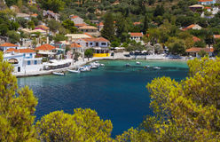 Tradiotinal Greek village at Kefalonia Royalty Free Stock Images