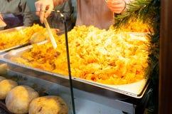 Tradiotional german fried potato stock photos
