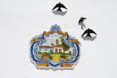 Tradisional ceramic on portugal houses Royalty Free Stock Images