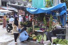 Tradisional rynek w meulaboh Aceh baracie Obraz Stock