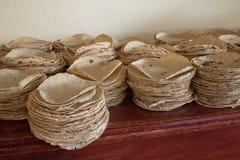 Traditicionaltortilla's voor traditioneel voedsel royalty-vrije stock foto's