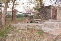 Traditie goed in Punjab voor irrigatie stock foto