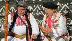 Tradities, Cicmany, Slowakije stock foto's
