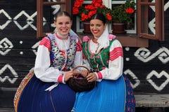 Tradities, Cicmany, Slowakije stock fotografie