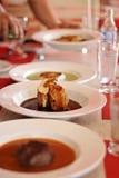 Traditinal墨西哥人晚餐 免版税库存图片