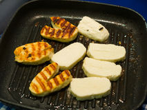 Traditinal Cypriot Halloumi Cheese Royalty Free Stock Photography
