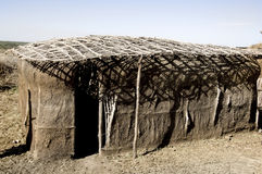 Traditinal massai house Royalty Free Stock Image