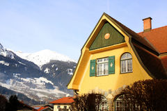 Tradition alpine mountain house(Austria) Royalty Free Stock Image