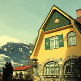 Tradition alpine mountain house(Austria) Stock Photography