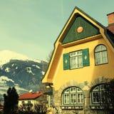Tradition alpine mountain house(Austria) Stock Photography