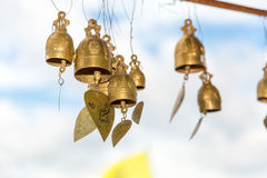 Tradition asian bells in Buddhism temple in Phuket island,Thailand. Famous Big Buddha wish bells Stock Photography