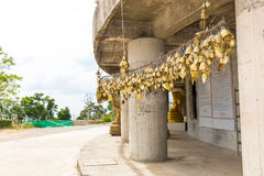 Tradition asian bells in Buddhism temple in Phuket island,Thailand. Famous Big Buddha wish bells Royalty Free Stock Photography