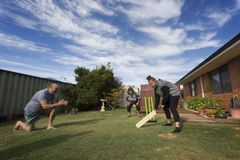 The Tradition of Back Yard Cricket Royalty Free Stock Image