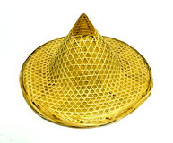 Tradition bamboo hat isolated on white background Stock Photography