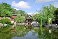 Tradition Chinese garden. Royalty Free Stock Photos