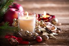 Tradition Christmas decorations background Royalty Free Stock Photo