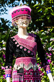 Tradition clothes of Hmong woman Royalty Free Stock Image
